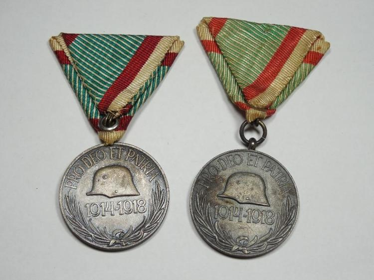 Lot of 2 German 1914-18 WWI Silver Medals