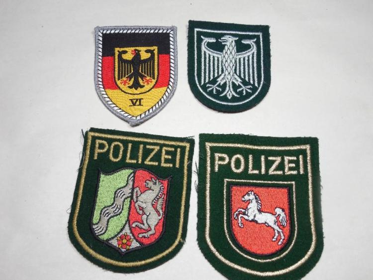 Group Lot of German Military Patches, Insignia