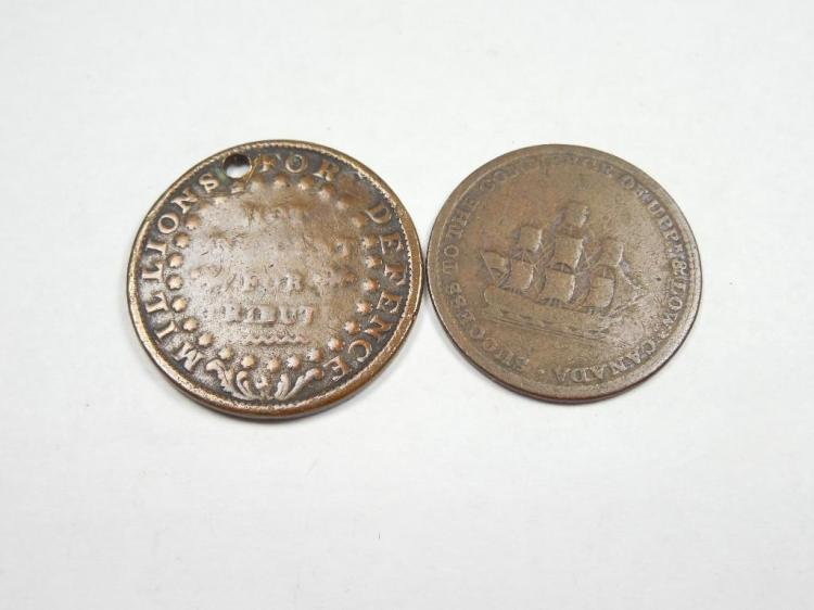 2 Early Tokens Inc Upper/Lower Canada, Hard Times