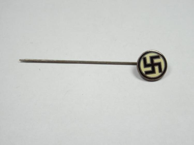 Unusual Black/Cream Nazi German Party Stick Pin