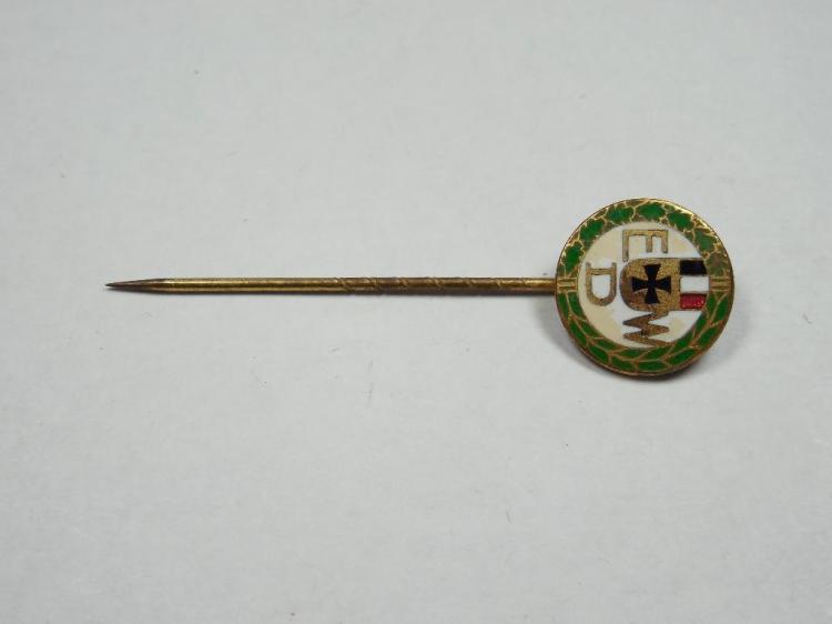 Enamel Imperial German Pin w/Flag + Iron Cross