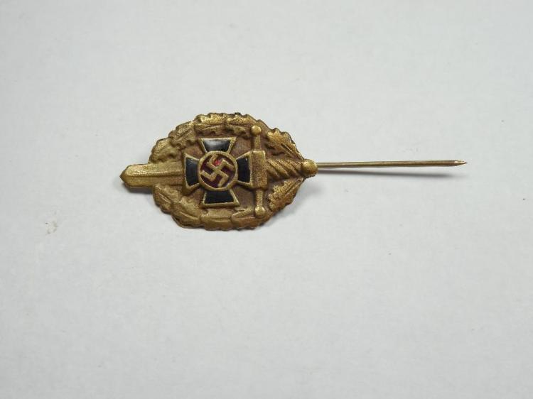 Nazi German WWII Era Veteran Stick Pin w/Enamel