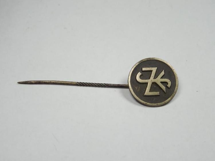 Unusual Nazi German Stick Pin Interlaced Letters