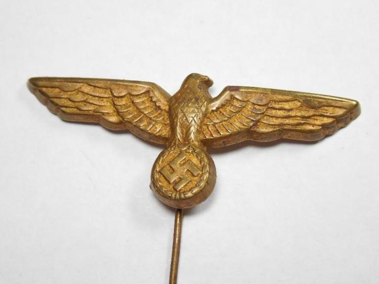 Nazi German Gold Tone Eagle Party Stick Pin