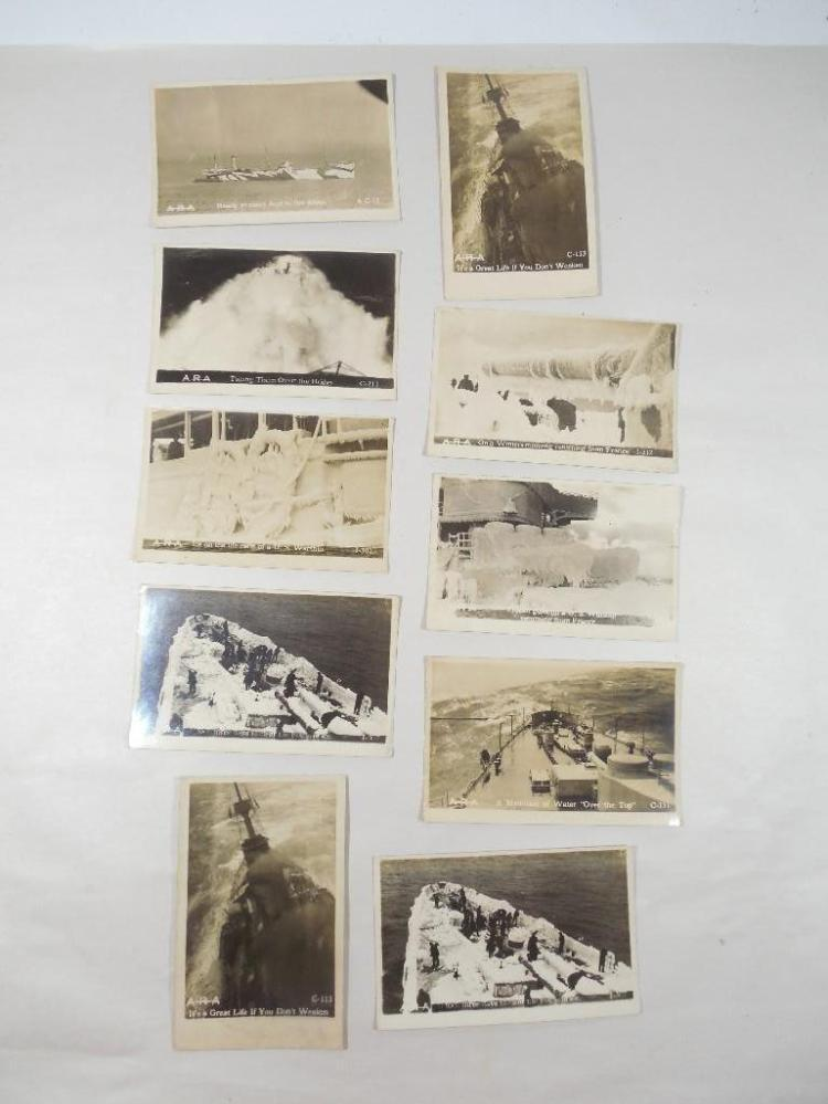 Group Lot of 10 Navy Real Photo Postcards WWI Era