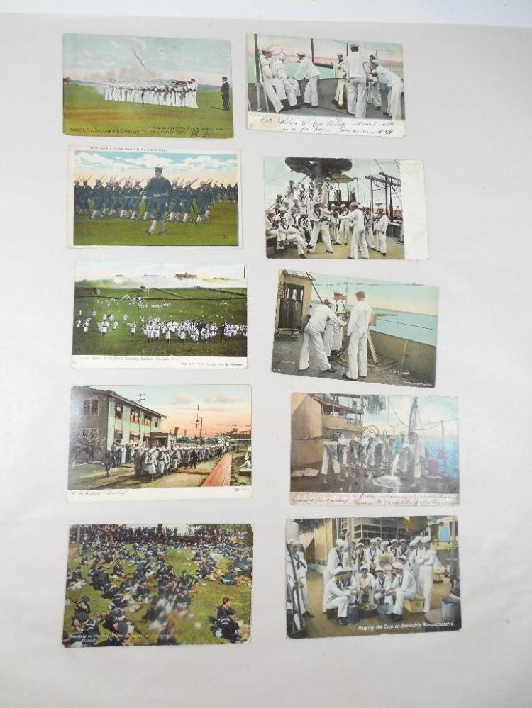 Group of 10 Early 1900s Navy Military Postcards