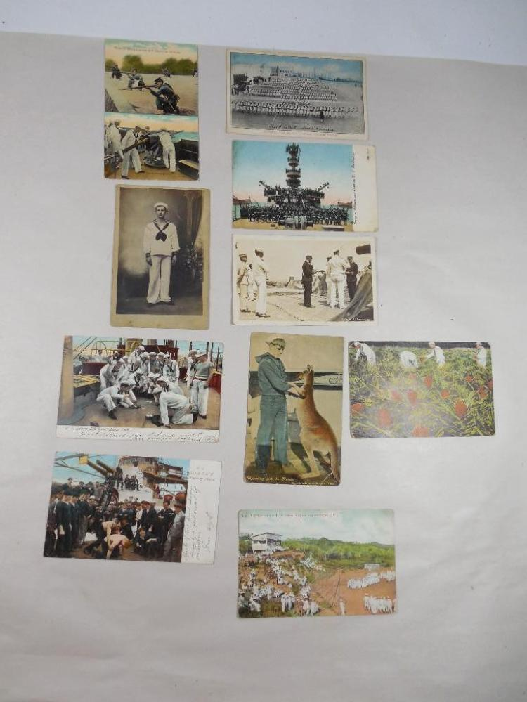 Group Lot of 11 Early 1900s Military Postcards