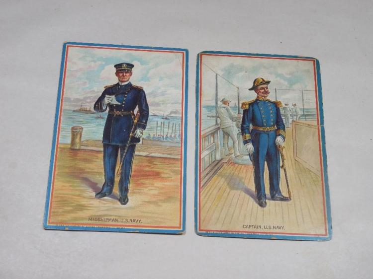2 Rare Tuck's Early 1900s Postcards Navy Officers