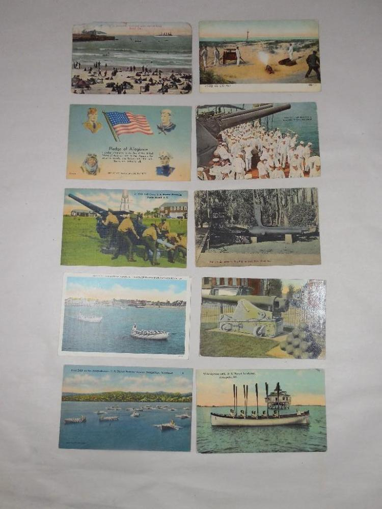Group Lot of 10 Early 1900s Military Postcards