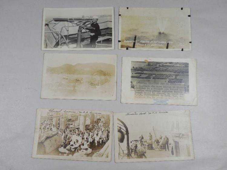Group Lot of 6 Rare WWI Real Photo Postcardes