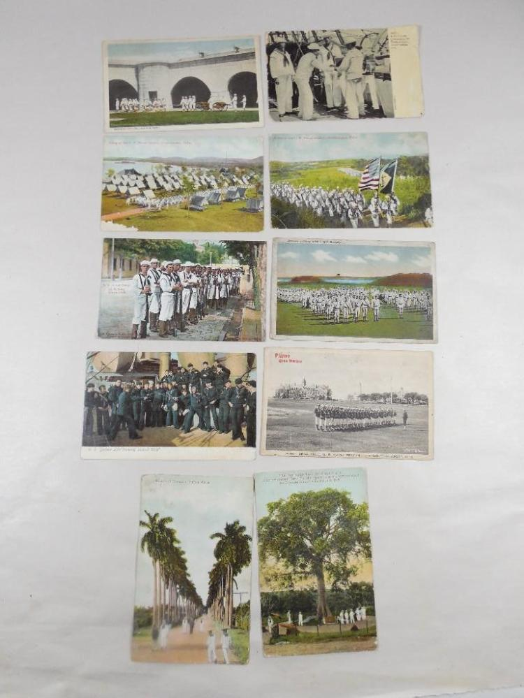 Group Lot of 10 Early Military Postcards