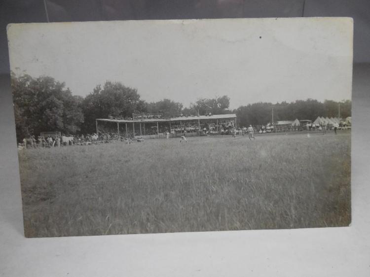 WWI Era Real Photo Postcard Baseball Game