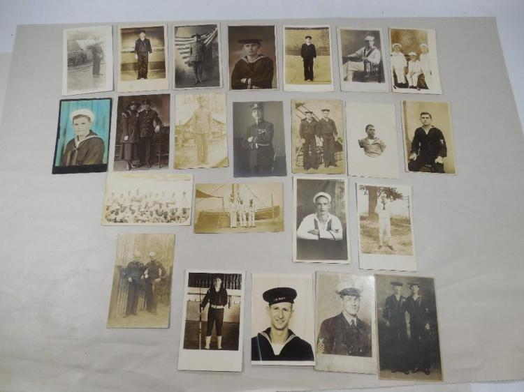Very Large Lot of WWI Navy Real Photo Postcards