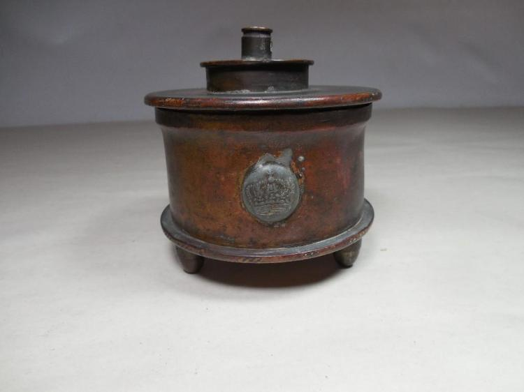 WWI Trench Art German Shell Box or Container