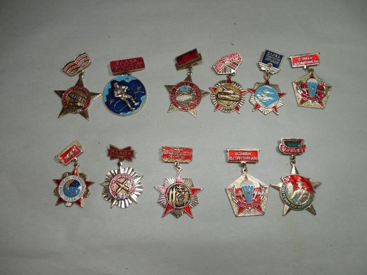 Large Group Lot of Old Russian Insignia/Medals