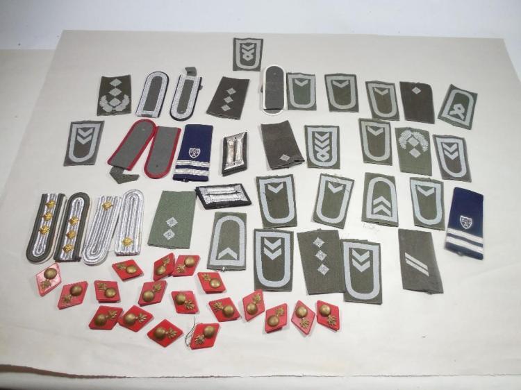 Large Lot Mostly German Insignia, Shoulder Boards