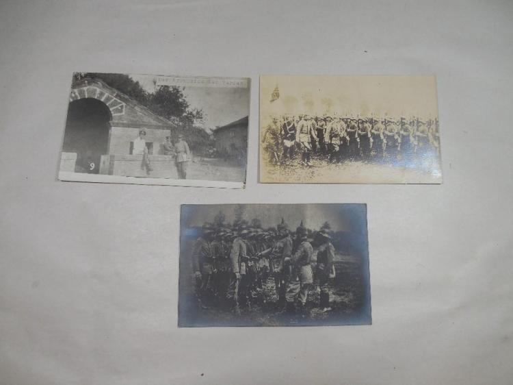 3 Rare WWI Real Photo Postcards German Soldiers