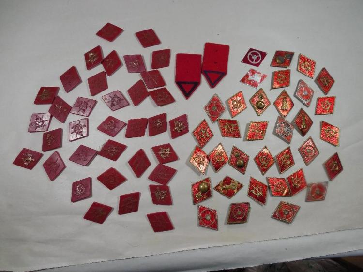 Huge Group Lot of Collar Insignia Tabs