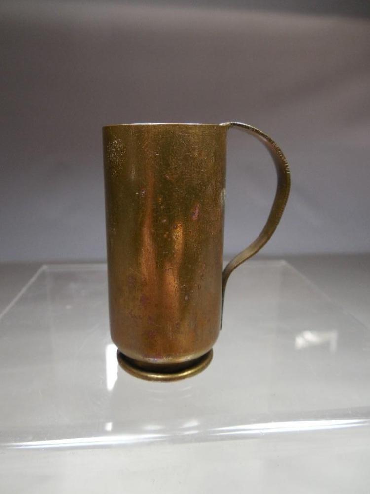 Rare Small WWII Trench Art Miniature Mug