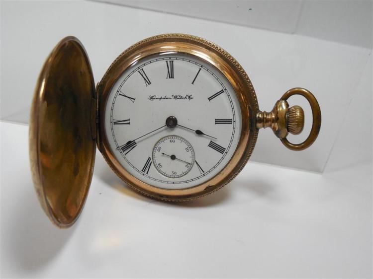 Gold Filled Hampden Pocket Watch 18 Size