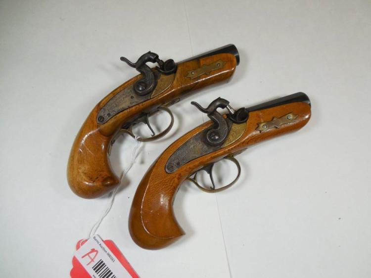 2 Jukar Black Powder Philadelphia Derringers