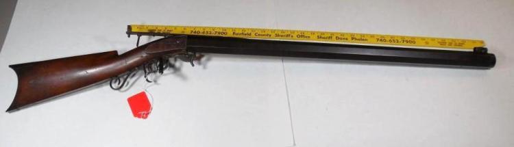 Rare 1840s DH Hilliard Target Rifle w/Under Hammer