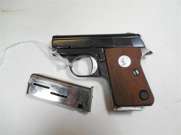 Colt Model 1908 Compact 25 Cal Pistol w/2 Mags