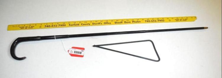 Rare Antique 9 mm Cane Gun w/Wire Stock