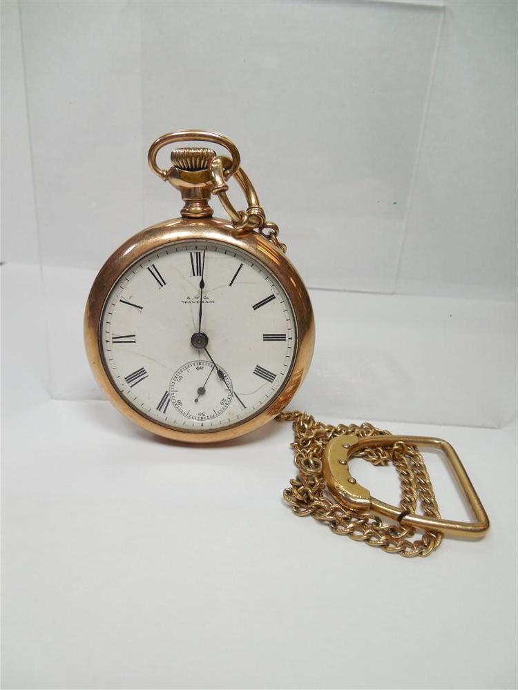 Gold Filled Waltham Pocket Watch 18 Size