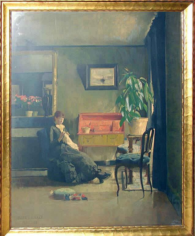 Harriet Backer Chromolithograph, Interior