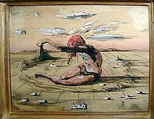 Surrealistic Figure by Eugene Berman, 1941.