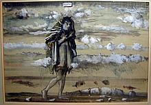 Figure in Landscape by Eugene Berman. 1940.