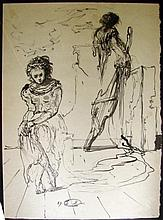 Figural Study by Eugene Berman, 1943.