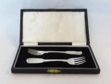 Pair (2) Dublin Sterling Childs Forks, C. 1830
