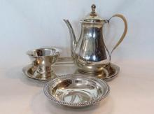 Four Sterling Silver Articles, American