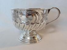 Set of Six Silver Plated English Sheffield Cups