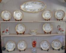 12 Piece Limoges Porcelain Fish Service