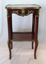 Italian Two Tier Bronze Mounted Stand