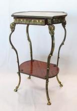 Italian Two Tier Inlaid Stand, 20th C.