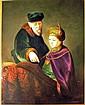 Oil Painting, Torah Lesson. Signed J. Lorraine.