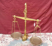 RARE SET OF BRASS SCALES