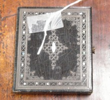 MOTHER OF PEARL INLAID TIN TYPE
