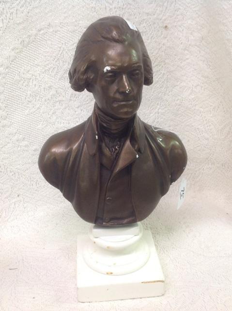 Plaster Bust Of Thomas Jefferson