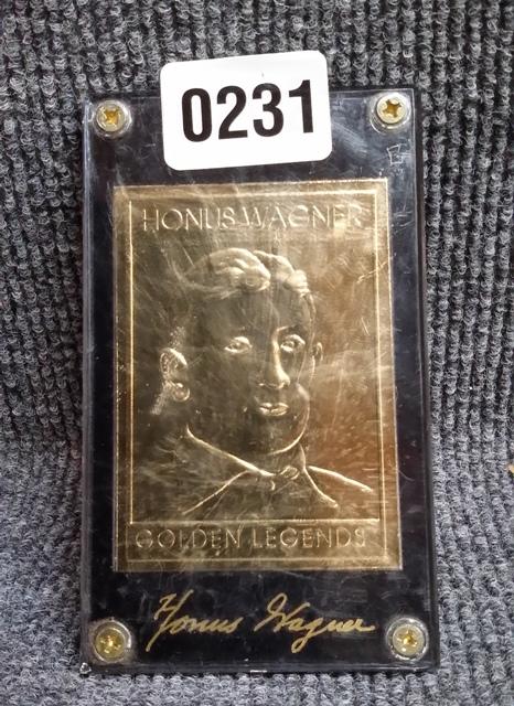 Honus Wagner Golden Legends Gold Plated Baseball Card Sh 995