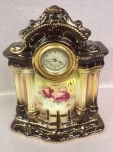 Early porcelain Wind Up Clock
