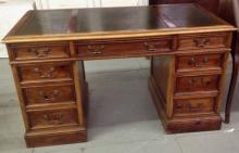 Leather top Office Desk