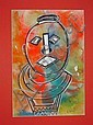 Eli Kobeli original mixed media 'Abstract African, Eli Kobeli, Click for value