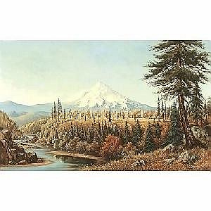 Grafton Tyler Brown 1841-1918 A View of Mt. Hood, 1884 Signed and dated l/r: G.T. Brown '84 Oil on canvas laid down on masonite 16.25 x 26.25in