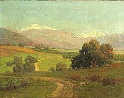 Albert Clinton Conner (American, 1848-1929) Summer in the foothills, 1907 22 x 28 1/4in unframed