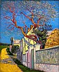 Léo Gausson (French, 1860-1944) Pasage á l'arbre rouge 22 x 18 1/8in (56 x 46cm), Leo Gausson, Click for value
